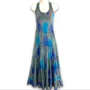 Urban Behaviour Tiered Tie-dye Tank Maxi Dress